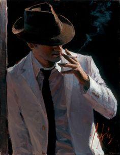 Fábian Pérez - Marcus with Hat and Cigarette