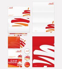 Go Doner Logo & Print Design by Hazim Al Radadi, via Behance
