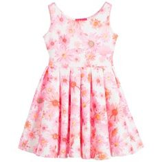 Kate Mack & Biscotti - Pink Floral Neoprene Dress   Childrensalon