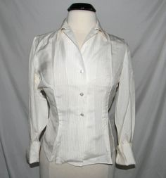 Vintage blouse shirt in Silk size 12 office attire by FeliceSereno, $25.00