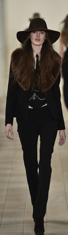 Ralph Lauren Collection Fall 2015: Shop a curated selection of fashion looks, shoes and accessories right from the runway on RalphLauren.com