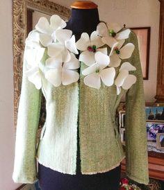 Giacchino lana con fiori di MissMarinaEva su Etsy
