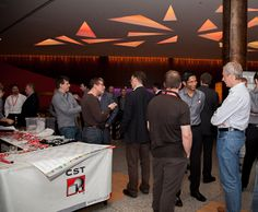 Attendees and CST employees gather at the CST European User Conference.