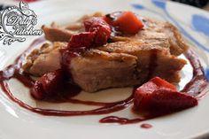 Duly's Kitchen: Secreto ibérico con Salsa de fresas y vino