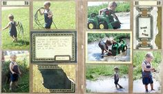 Love this layout! Trying a picfolio album next!! Project designed by Tracy Dickinson!