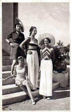 1930s Beach Pajamas.