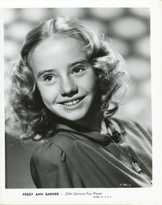 Peggy Ann Garner received the Film Daily's Critics Award for her performances in Jane Eyre, A Tree Grows in Brooklyn, and Junior Miss, all by age 14 and appeared in more than 70 movies and TV shows over her forty year acting career