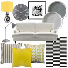 Grey and yellow living room | Moodboards | housetohome.co.uk