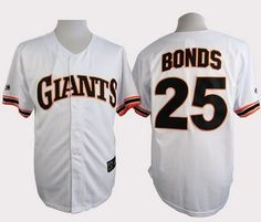 496f8d0b3 San Francisco Giants 25 Bonds White Turn The Clock 1989 Jersey. Linda · MLB  Jerseys