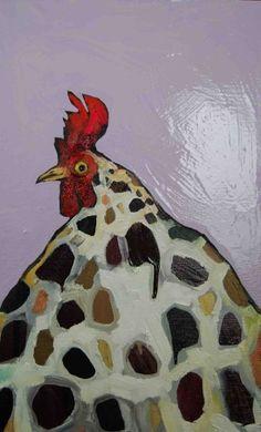 Eli Halpin, Rooster Bust in Lavender Chicken Painting, Chicken Art, Chicken Life, Chickens And Roosters, Pet Chickens, Rooster Art, Chicken Humor, Keeping Chickens, Bird Artwork