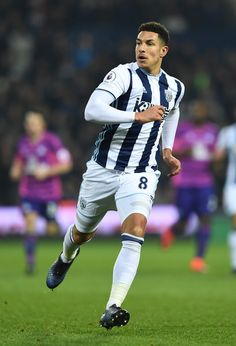 Jake Livermore of West Bromwich Albion in action during the Premier League match between West Bromwich Albion and Sunderland at The Hawthorns on January 21, 2017 in West Bromwich, England.