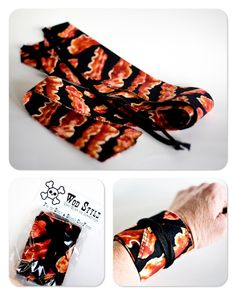 Where's the.... bacon WOD Style wrist wraps :)  for crossfit WOD Style etsy-thismomasews 20.00, via Etsy.
