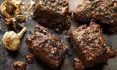 Dark star: Yotam Ottolenghi's recipes for barbecue beef short ribs with black garlic and pear and fennel salad