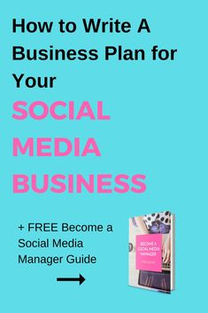how to write a business plan for your social media business socialmedia workfromhome writing