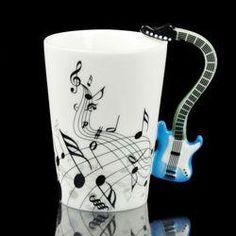 Porcelain Green Guitar Electric Bass Music Note Style Coffee Cup Tea Mug Gift Coffee Milk, Milk Cup, Coffee Cups, Jazz Bar, Coffee Music, Music Love, Halloween Gifts, Tea Mugs, Cute Gifts