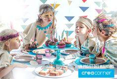 Une fête d'anniversaire sur le thème des indiens