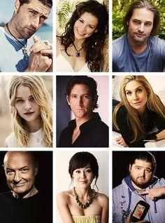 Jack, Kate, Sawyer/James, Claire, Desmond, Juliet, Locke/John, Sun, & Hurley/Hugo