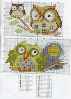 ru / Фото - From Magazines - Auroraten Cross Stitch Owl, Cross Stitch Animals, Cross Stitch Charts, Cross Stitch Designs, Cross Stitching, Cross Stitch Embroidery, Embroidery Patterns, Cross Stitch Patterns, Owl Patterns
