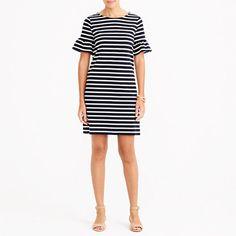 J.Crew Factory Striped Ruffle Sleeve Dress