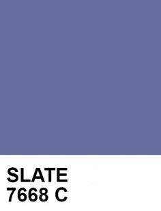 SLATE:  #686E9F  7668C