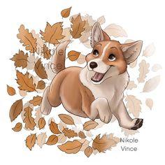 Autumn corgi... Pembroke Welsh Corgi, Tigger, Scooby Doo, Disney Characters, Fictional Characters, Autumn, Art, Art Background, Fall