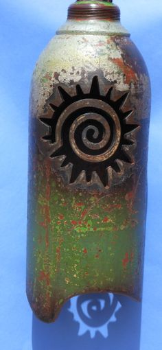 Plasma cut Bell made from recycled gas cylinder Sounds like a gong,