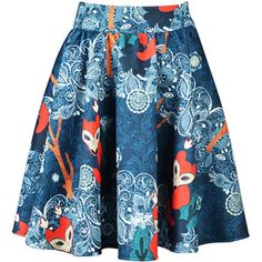 Choies Fox Paisley Print Skirt