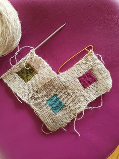 Ravelry: Project Gallery for Summer pattern by Marianne Isager Knitting Squares, Loom Knitting, Knitting Stitches, Baby Knitting, Knitting Patterns, Crochet Patterns, Sewing Patterns, Plaid Crochet, Crochet Quilt