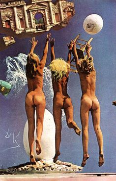 For the December 1974 issue, Playboy commissioned Salvador Dali to create an erotic collage using naked Playmates. Salvador Dali, Playboy, Charles Darwin, Art For Art Sake, Pablo Picasso, Surreal Art, Photo Manipulation, Erotic Art, Surrealism
