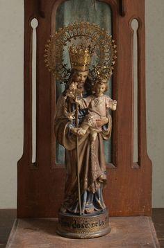 Etsy のSaint Joseph with the Infant Jesus statue José de Nazaret Olot Catalonia Spain Religious Art Antique/946(ショップ名:GliciniaANTIC)
