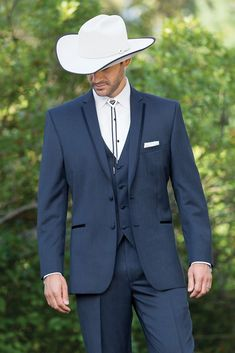 SKU Mens Western Go well with & Tuxedo Slate Blue - Suit World Cowboy Wedding Attire, Tuxedo Wedding, Wedding Men, Wedding Suits, Country Groom Attire, Wedding Tuxedos, Wedding Ideas, Budget Wedding, Wedding Details