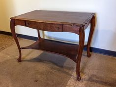 Antique Library Table with Queen Anne Legs  $50