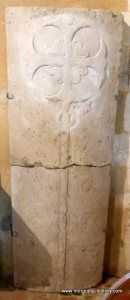 Knights Templar Tombstone  can be found inside the parish church of St Marys Selborne Hampshire England