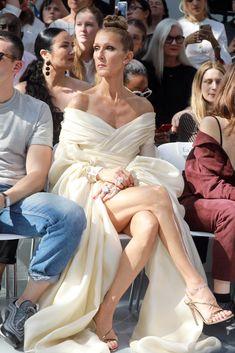Celine Dion in Alexandre Vauthier (Paris Haute Couture Fashion Week F/W Celine Dion Paris, Celion Dion, Fashion Week, High Fashion, Paris Fashion, Sexy Legs And Heels, Haute Couture Fashion, Bridesmaid Dresses, Wedding Dresses
