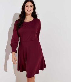 8f86e9ba350 Find sales on LOFT Plus Smocked Cuff Dress and other deeply discounted  products at Shop Scenes.