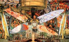 El Hombre Contralor del Universo, 1933 Diego Rivera (Mexican) fresco mural, Rockefeller Center, New York no longer extant