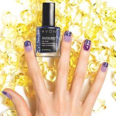 Dazzlers Top Coat. Can be worn alone or over polish.  Pair this with our Nailwear Pro+ Nail Enamel.  Any 3 for $8.99, mix or match. Get 10% off on orders of $40+ Coupon Code: Q3WEL15. www.youravon.com/lindabacho #avonrep