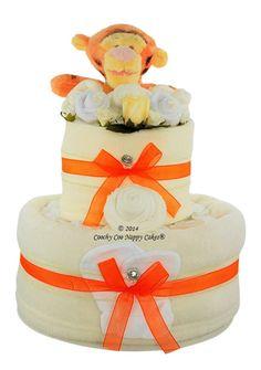 Disney Tigger Unisex Nappy Cake Baby gift www.CoochyCooNappyCakes.co.uk