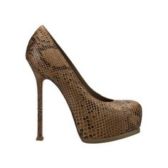 Yves Saint Laurent heels brown python