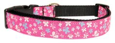 Mirage Pet Products Butterfly Nylon Ribbon Collar, Large, Pink >>> You can get additional details, click the image : Collars for dogs