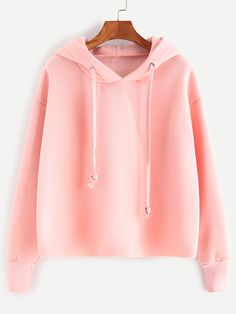 Shop Pink Drawstring Hooded Sweatshirt online. SheIn offers Pink Drawstring Hooded Sweatshirt & more to fit your fashionable needs.