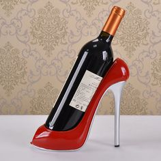 e71743ef13df Resin Decoration High Heels Shoe Wine Rack Home Furnishing Ornaments  Creative Bottle Holder Gift (red black champagne)