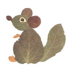 Squirrel leaf art - from predskolaci. Autumn Leaves Craft, Autumn Crafts, Fall Crafts For Kids, Autumn Art, Nature Crafts, Art For Kids, Leaf Crafts, Fun Crafts, Theme Nature