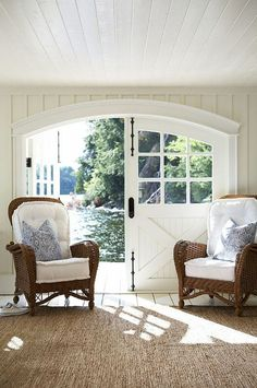 Looking for new trending french door ideas? Find 100 pictures of the very best french door ideas from top designers. Lake Cottage, Cottage Homes, Cottage Style, Cottage Door, Lakeside Cottage, Riverside Cottage, Nautical Interior, Fresh Farmhouse, Luxury Interior Design