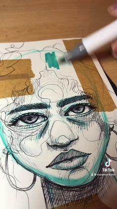portrait mixed media sketchbook sketch | Clara Morrison