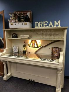 UpCycled Upright Piano now given the new life of a one of a kind desk! Repurpose… UpCycled Upright Piano now given the new life of a one of a kind desk! Repurposed by the ReStore Staff to support our mission of building Habitat Homes!