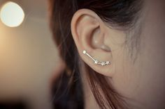 2016 / Aries Zodiac Constellation Sterling Silver Earring by arajera