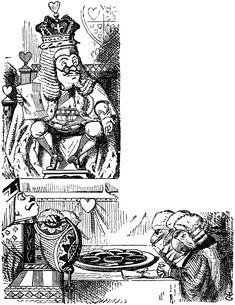 Alice in Wonderland / Lewis Carroll; illustrated by Sir John Tenniel John Tenniel, Lewis Carroll, Alice In Wonderland Clipart, Alice In Wonderland Illustrations, Book Illustrations, Disney Magazine, Image Blog, King Of Hearts, Adventures In Wonderland