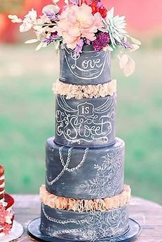 39 Fascinating Wedding Cakes Pictures & Designs ♥ If you want guest to talk about the cake long after the wedding, take a look of gallery amazing wedding cakes pictures & designs. #wedding #weddingcake #bride #weddingforward