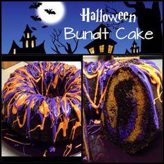 Vanilla Cake Mixes, Chocolate Cake Mixes, Chocolate Box, Bundt Cake Pan, Cake Pans, Halloween Foods, Halloween Crafts, Purple Food Coloring, Store Bought Frosting
